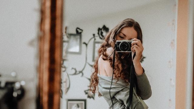 ถ่ายรูปหน้ากระจก